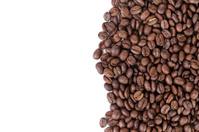 freshly roasted coffee beans border