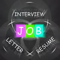 JOB On Blackboard Displays Work Interview Or Resume