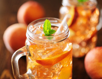 sweet peach tea close up photo