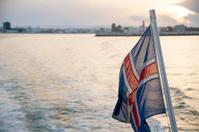 Icelandic Flag at Sunset