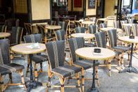 Parisian Restaurant Terrace During Sunny Day