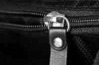 Metal zipper close up