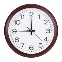 Exactly nine hours on the clocks