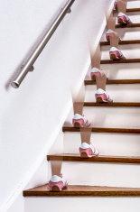 Walking up the stairs