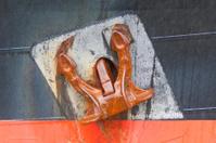 Big rusty anchor