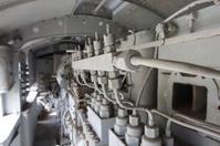 Engines diesel in locomotive