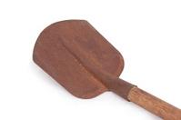 Old rusty shovel isolated