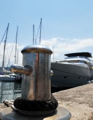 Yacht in port