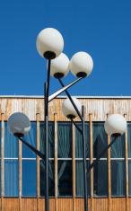 Fifties style street lamp