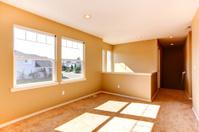 Empty house interior. Bright room with windows