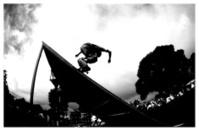 skateboarder silouette