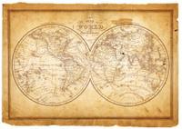 world in hemispheres 1854