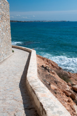 Edgy seaside path with horizon.