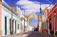 Colorful street in Merida, Yucatan, Mexico