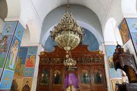 The interior Greek Orthodox Basilica of Saint George