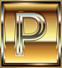 Ingot Font illustration Letter P
