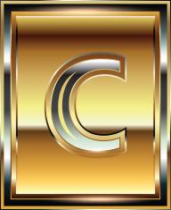 Ingot Font illustration Letter c