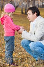 Dad pitying daughter