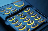 key pad of a phone