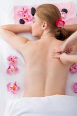 Woman Getting Massage Treatment