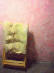 The Old Chair with drawing effect