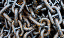 Old chain with rust