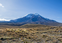 Chimborazo volcano at dawn