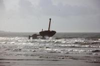 Ship ruin in the ocean