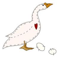 Folk Art Goose and Eggs