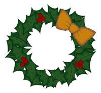 Folk Art Christmas Wreath