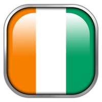 ivory coast flag square glossy button