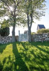 Cemetery of the church Ruts Kirke on Bornholm