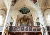 Organ inside the Church in Kitzbuhel, Austria