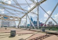 Pedestrian bridge in downtown of Nashville, Tennessee