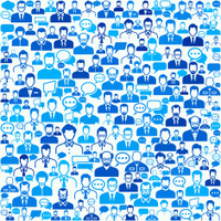 man Faces royalty free vector art Pattern on Seamless Background