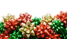 Christmas Bows Border