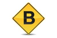 Icon Traffic Sign Alphabet Font B