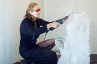 Ice sculpturing.