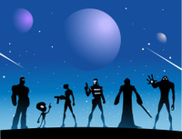 Space Alien Superheroes