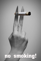 The poster against smoking