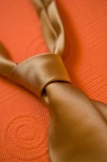 silk orange necktie