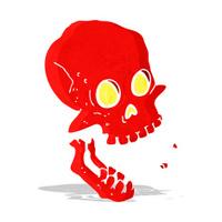 cartoon laughing skull