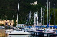 Yacht marina in Riva del Garda. Italy.