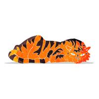 cartoon resting tiger