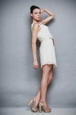 Fashion photo of young woman. Girl posing. Studio photo