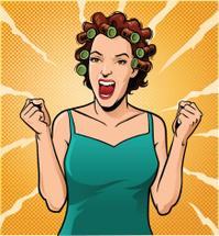 Retro Style Woman Screaming