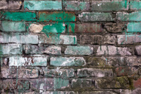 old defense wall colour bricks