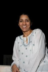 One Cheerful Indian Asian Adult Woman Female Joyful People Verti