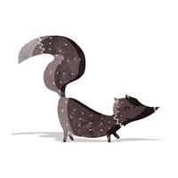 cartoon little wolf cub