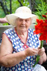 Grandma with boucket